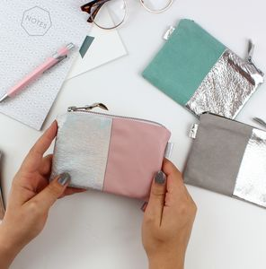 Two Tone Small Pouch - purses & wallets