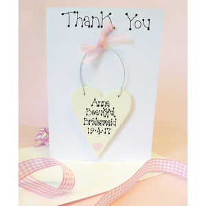 Bridesmaid Personalised Thank You Card