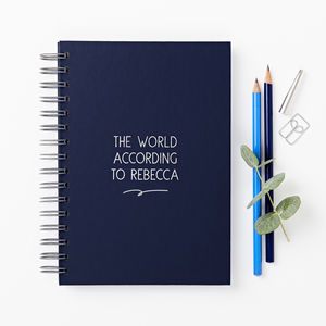 Any Wording Hardback Personalised Notebook