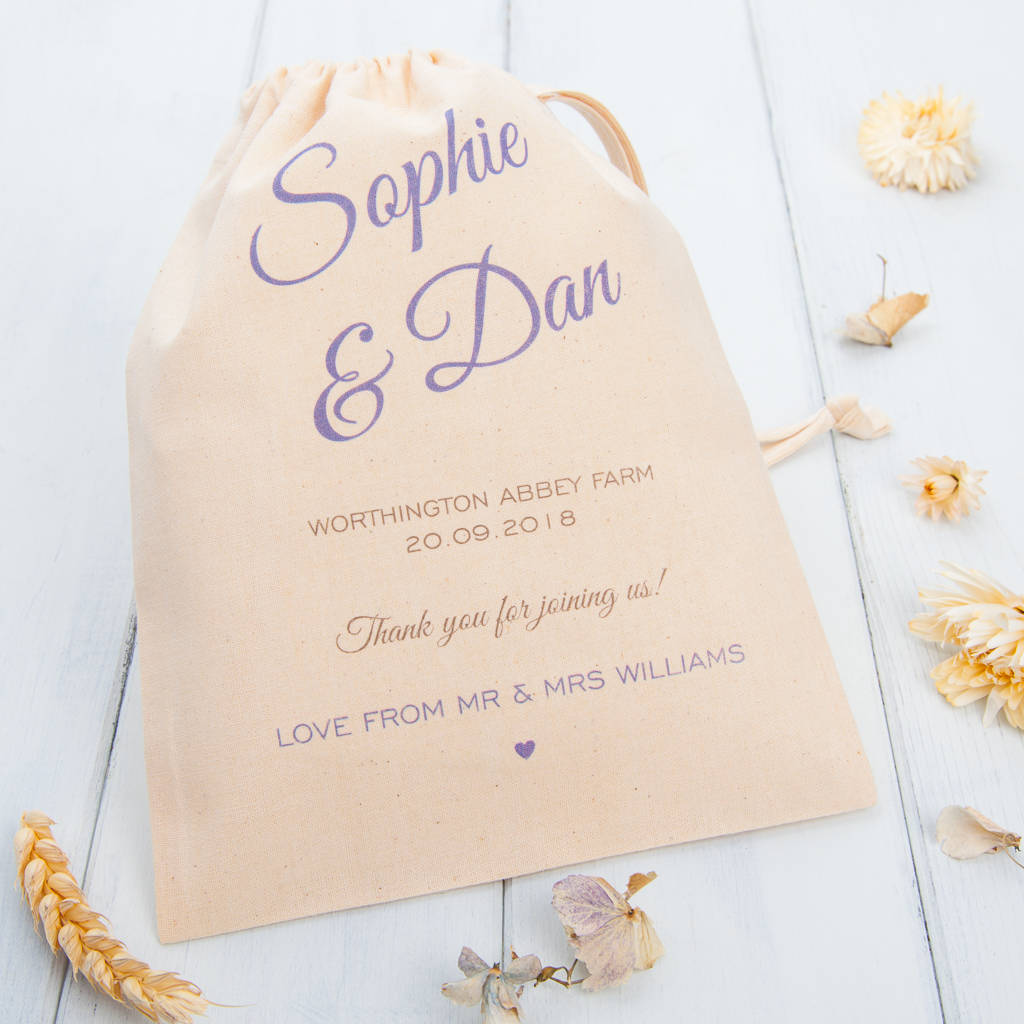 personalised wedding favour bags by british and bespoke ...