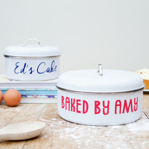 Personalised Retro Cake Tin Set Of Two