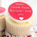 Personalised 'I Love You' Cupcake Toppers