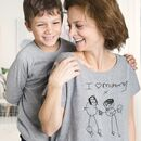 Personalised Mums T Shirt With Child's Drawing