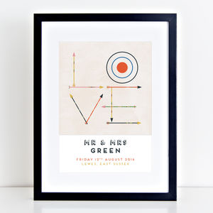 Personalised Wedding Love Print - family & home