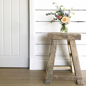 Granary Reclaimed Wood Stool - furniture