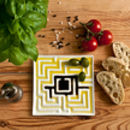 Plate For Olive Oil With Labyrinth Pattern