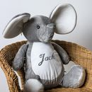 Personalised Soft Toy, Elephant