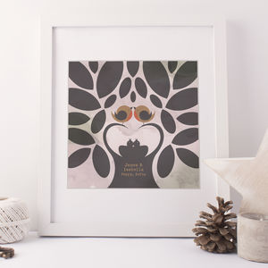 Personalised Family Tree Print - pictures & prints for children