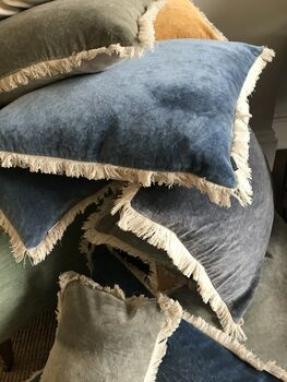 Maitri Stonewashed Velvet Cushion 60x60