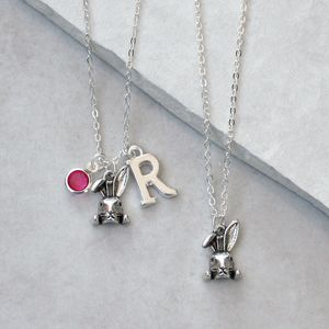 Personalised Rabbit Charm Necklace - necklaces