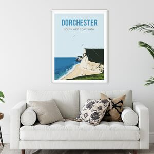 Dorchester, South West Coastal Path Fine Art Print