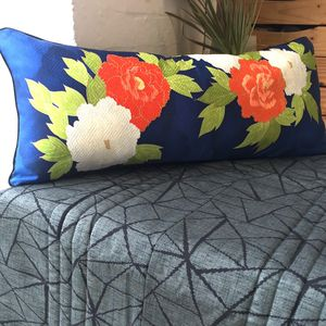Sumptuous Oblong Vintage Silk Cushion Cover