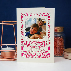 Mother's Day Photograph Papercut Card
