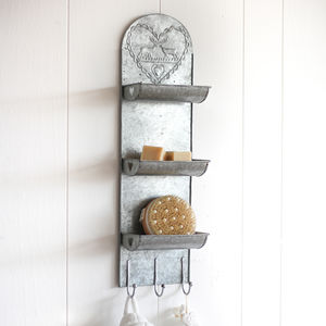 Zinc Wall Mounted Three Tier Room Tidy