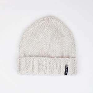 Alpaca And Merino Wool Beanie Chalk White - hats, scarves & gloves
