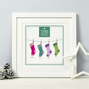 Family Christmas Print Gift - christmas home accessories