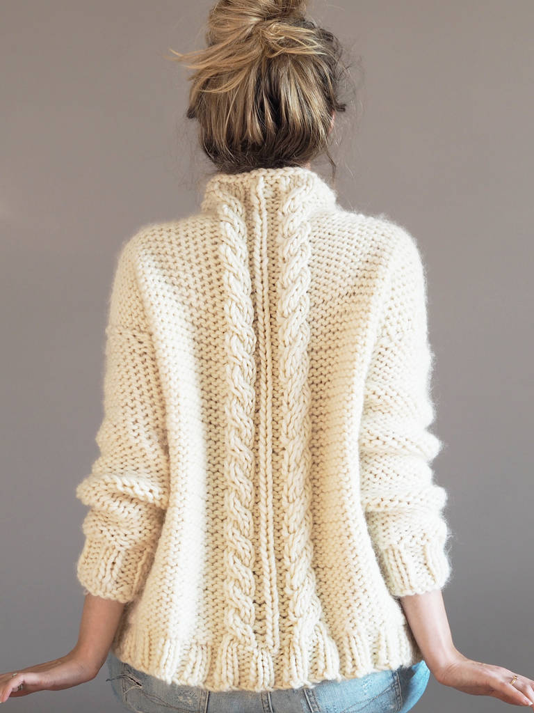 cable knit jumper knitting kit by lauren aston designs ...