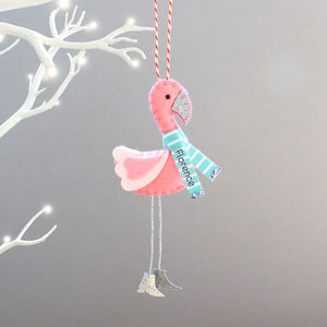Flamingo Christmas Tree Decoration