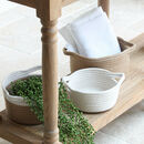 Round Cotton Storage Baskets Set