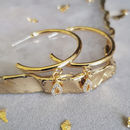 Delicate Cz Gold Hoops