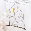 Wire Gold Moon Hanging Decoration