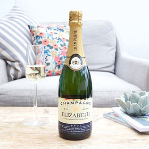 Personalised Champagne In A Silk Lined Gift Box - food gifts