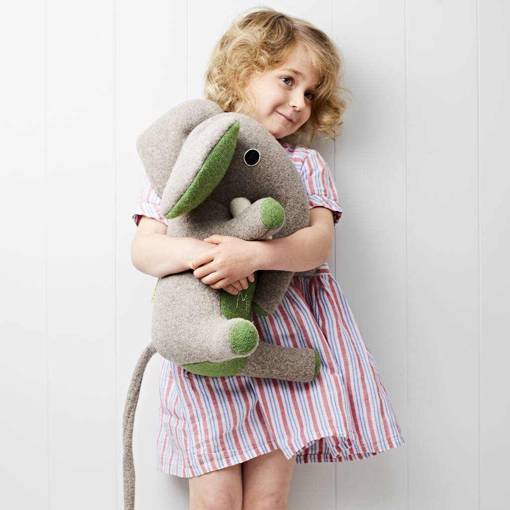 Personalised Elephant Soft Toy With Embroidered Name