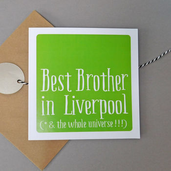 Personalised 'Best Brother In' Card