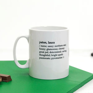 Personalised Dictionary Definition Mug