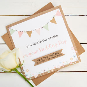 Personalised Wedding Cards - wedding, engagement & anniversary cards