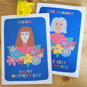 Personalised Mother's Day Portrait Card