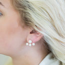 Pearl And Silver Two Way Earring Jackets