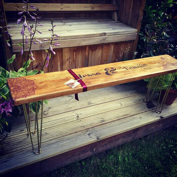 Personalised Retro Industrial Style Bench