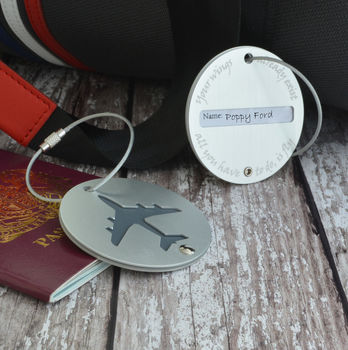 Personalised Aeroplane Luggage Tag