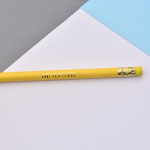 Personalised Foiled Graphite Pencils - pens & pencils