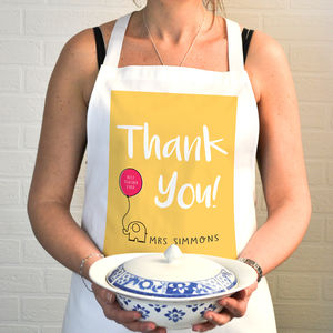 Personalised Apron Thank You Gift