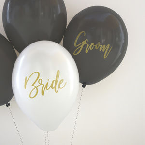 Bride And Groom Balloon Pack - room decorations