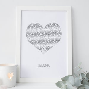 Personalised First Dance Print - personalised