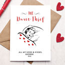 Personalised Duvet Thief Valentines Day Card