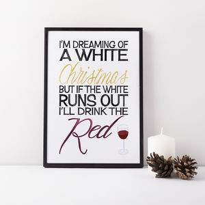 Funny Christmas Typographic Print - christmas home accessories