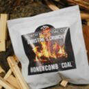 Personalised Coal Bag Filled With Crunchy Honeycomb