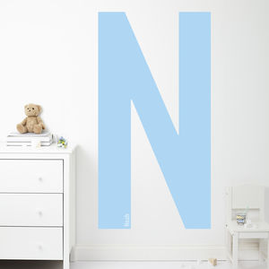 Personalised Initial And Name Wall Stickers - children's room