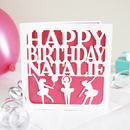 Personalised Ballerinas Birthday Card