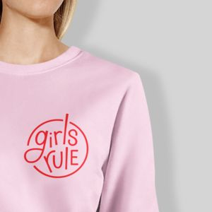 Girls Rule Pink And Red Sweater