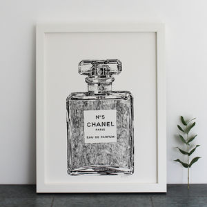 Perfume Bottle Print - drawings & illustrations