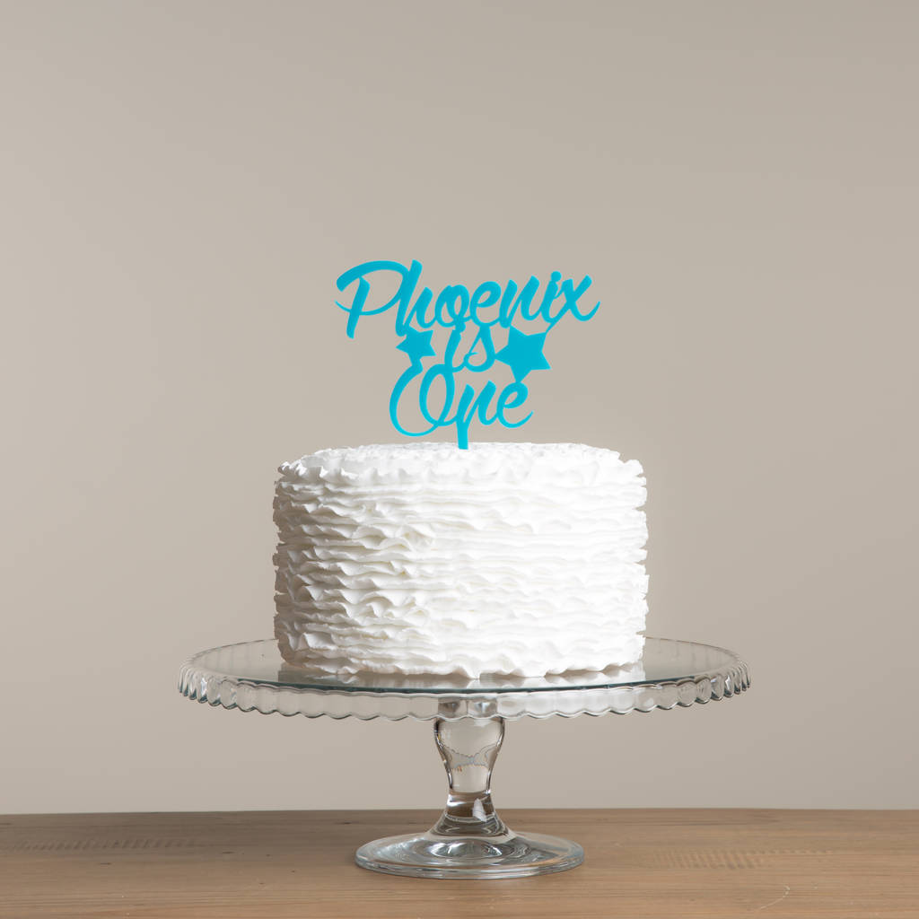 Birthday Name And Age Star Cake Topper