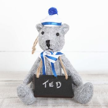 small Teddy bear with chalkboard