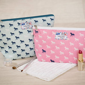 Horse Pony Horses Gift Makeup Toiletry Wash Bag