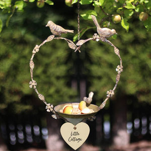 Personalised Decorative Heart Bird Feeder - gifts for grandmothers