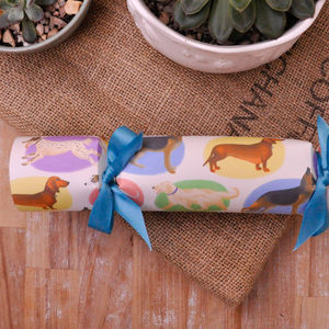 Handmade Party Crackers Box Of Six Pack Of Dogs